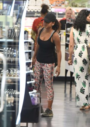 Christina Milian - Shopping at Sephora in Los Angeles