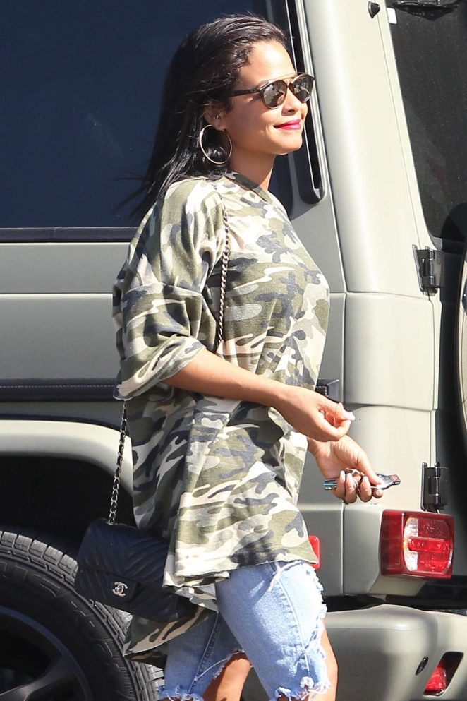Christina Milian - Shopping in Beverly Hills