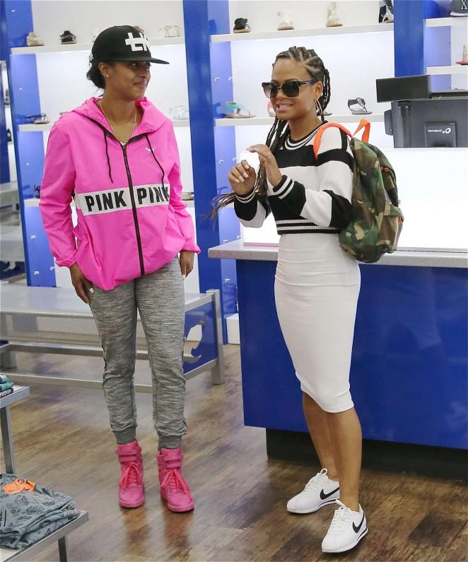 Christina Milian: Sneaker Shopping -02
