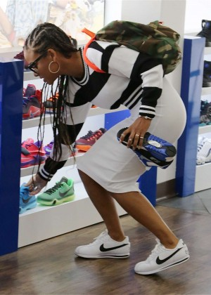 Christina Milian - Sneaker Shopping in LA