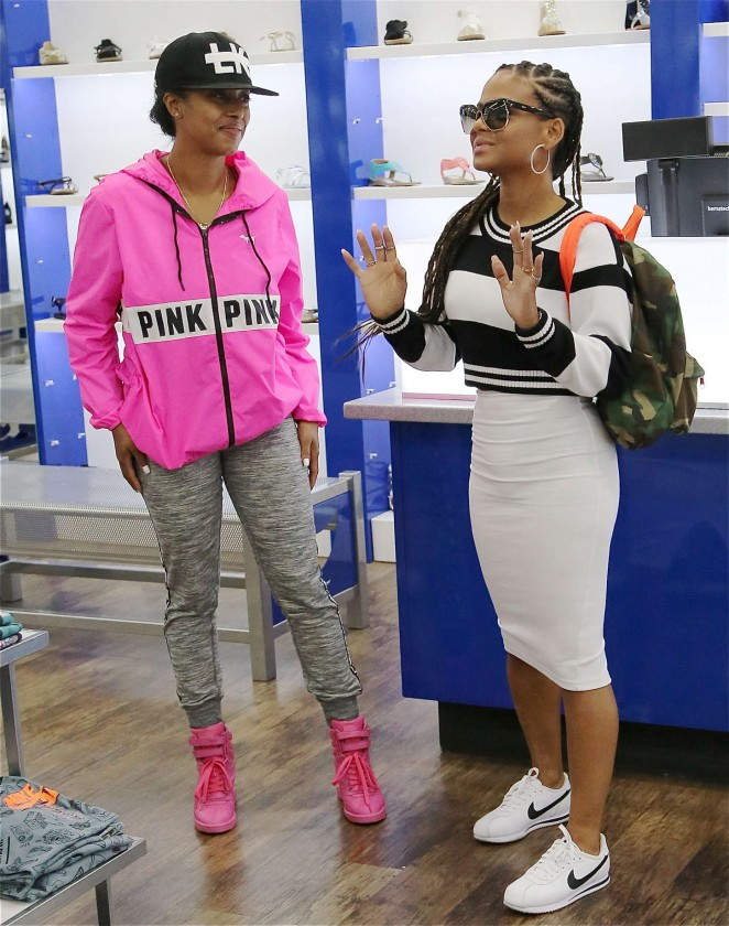 Christina Milian: Sneaker Shopping -06