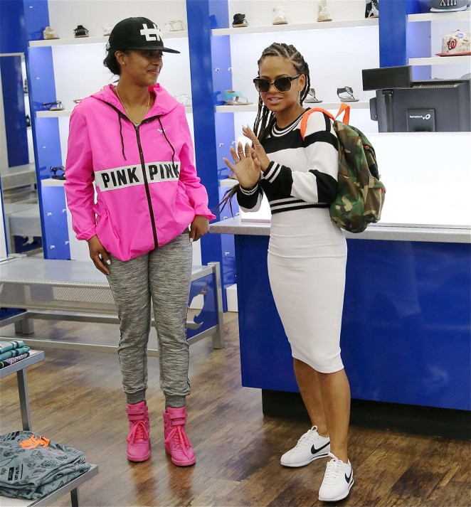 Christina Milian: Sneaker Shopping -08