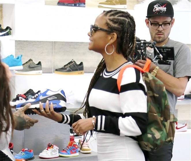 Christina Milian: Sneaker Shopping -10