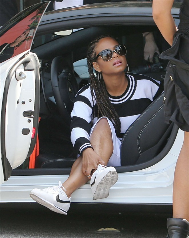 Christina Milian: Sneaker Shopping -11