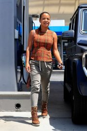 Christina Milian - Spotted at a gas station in Beverly Hills