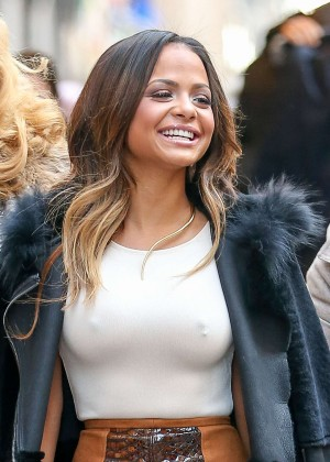 Christina milian style out and about in ny