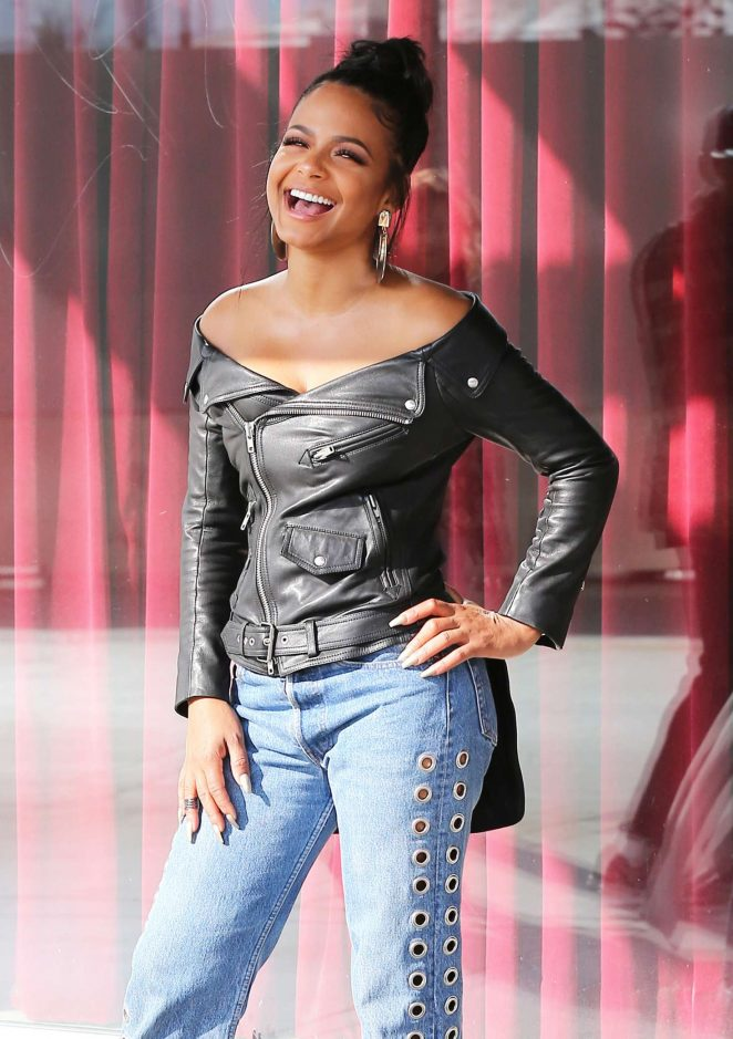 Christina Milian visits Hollywood Today Live in Hollywood