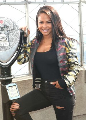 Christina Milian visits The Empire State Building in New York City