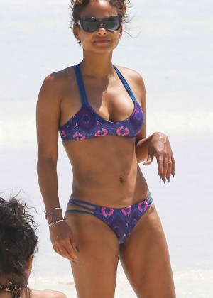 Christina Milian in Bikini in Cancun