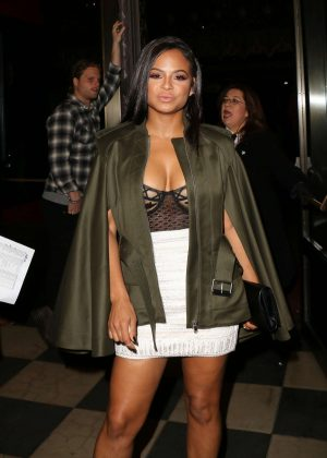 Christina Milian - YSL Beauty Club Party in Los Angeles