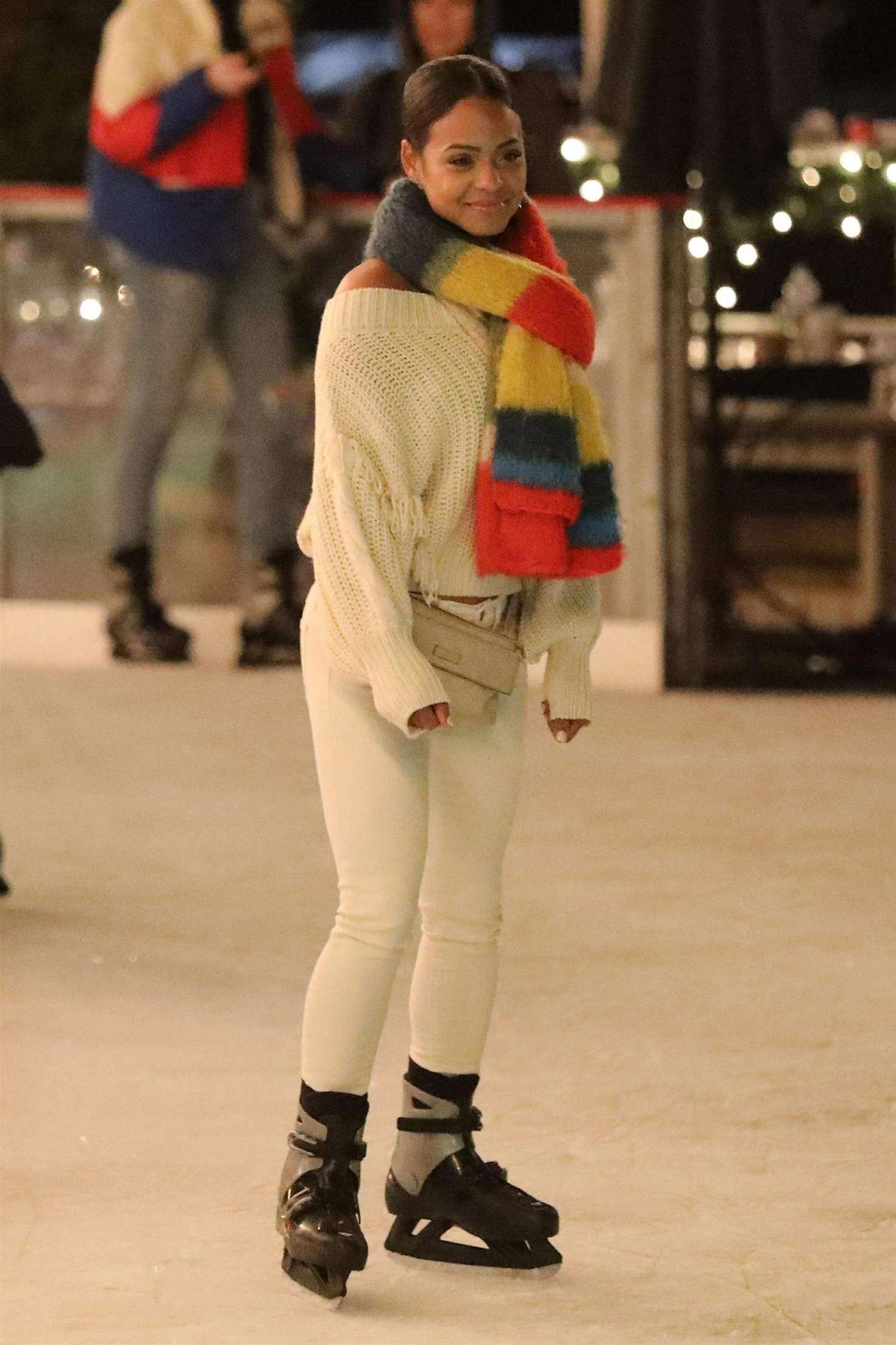 Christina Millian – Ice skating at Larsa Pippens Party in Los Angeles