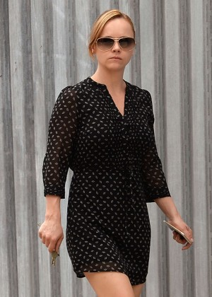 Christina Ricci in Short Dress out in NYC