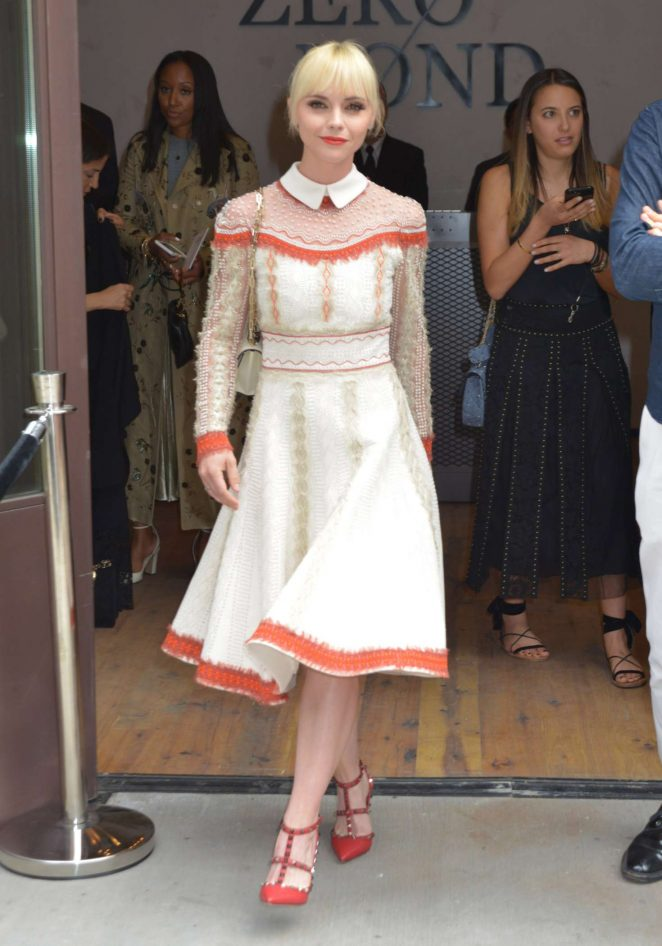 Christina Ricci - Valentino Resort 2018 Show in New York