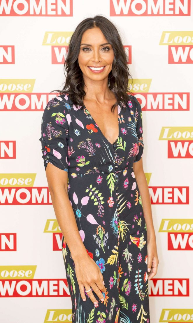 Christine Bleakley at 'Loose Women' TV show in London