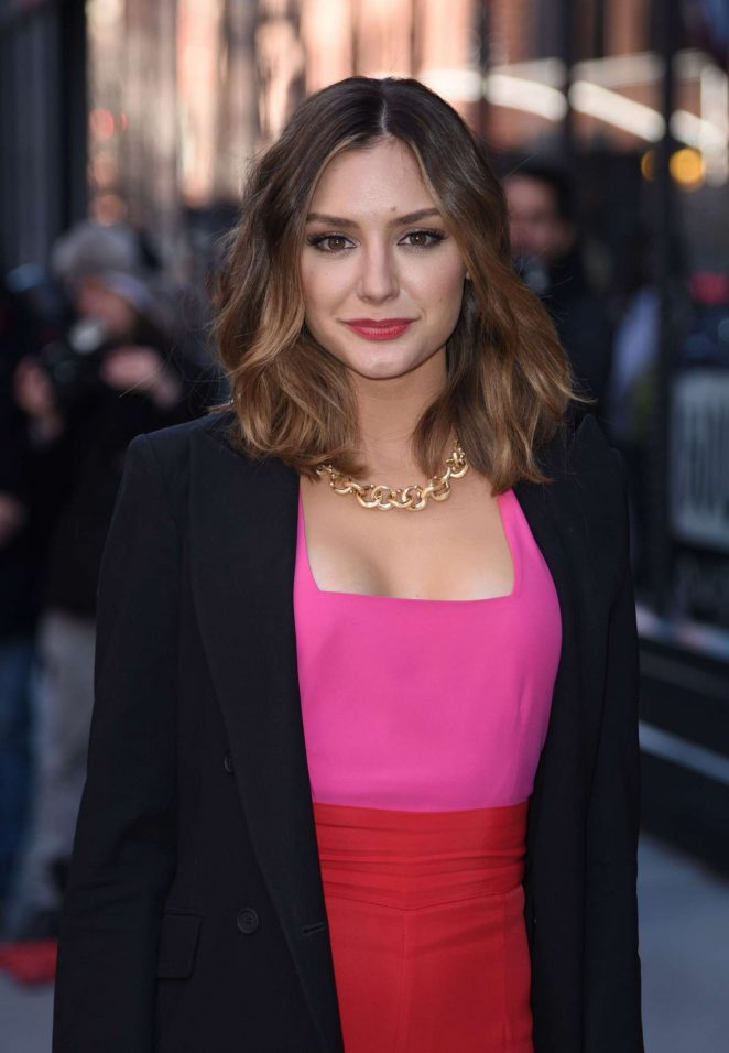 Christine Evangelista - Arrives at AOL Build Studios in New York City