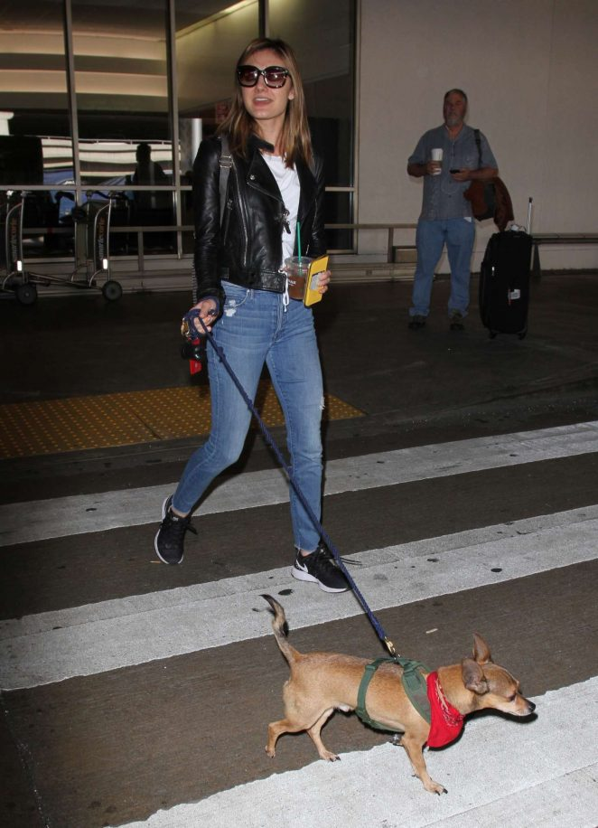 Christine Evangelista: Arrives at Los Angeles International Airport -03