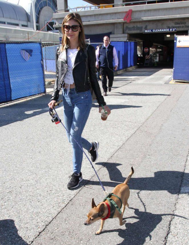 Christine Evangelista: Arrives at Los Angeles International Airport -06