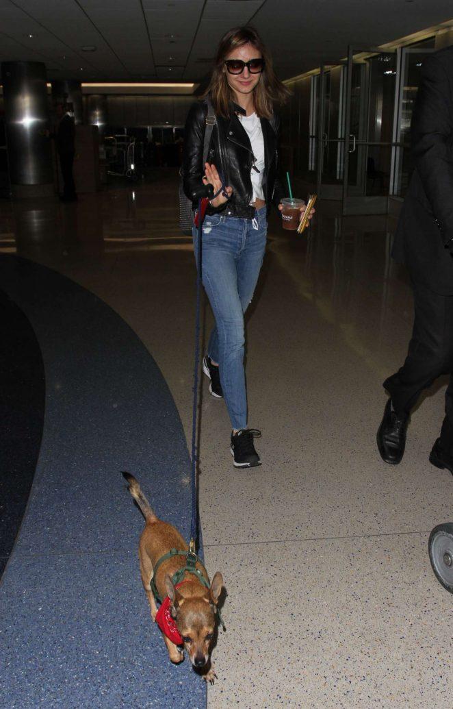 Christine Evangelista: Arrives at Los Angeles International Airport -08