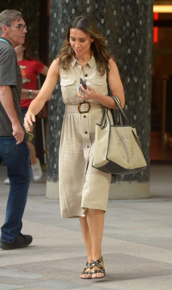 Christine Lampard - Arriving at BBC White City Studios in London