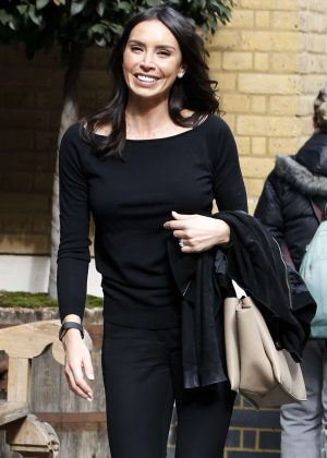 Christine Lampard out and about in London