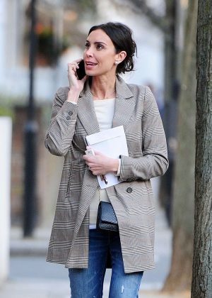 Christine Lampard out in Chelsea