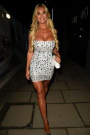 Christine McGuinness - Arrives at Menagerie 3rd Birthday Party in Manchester