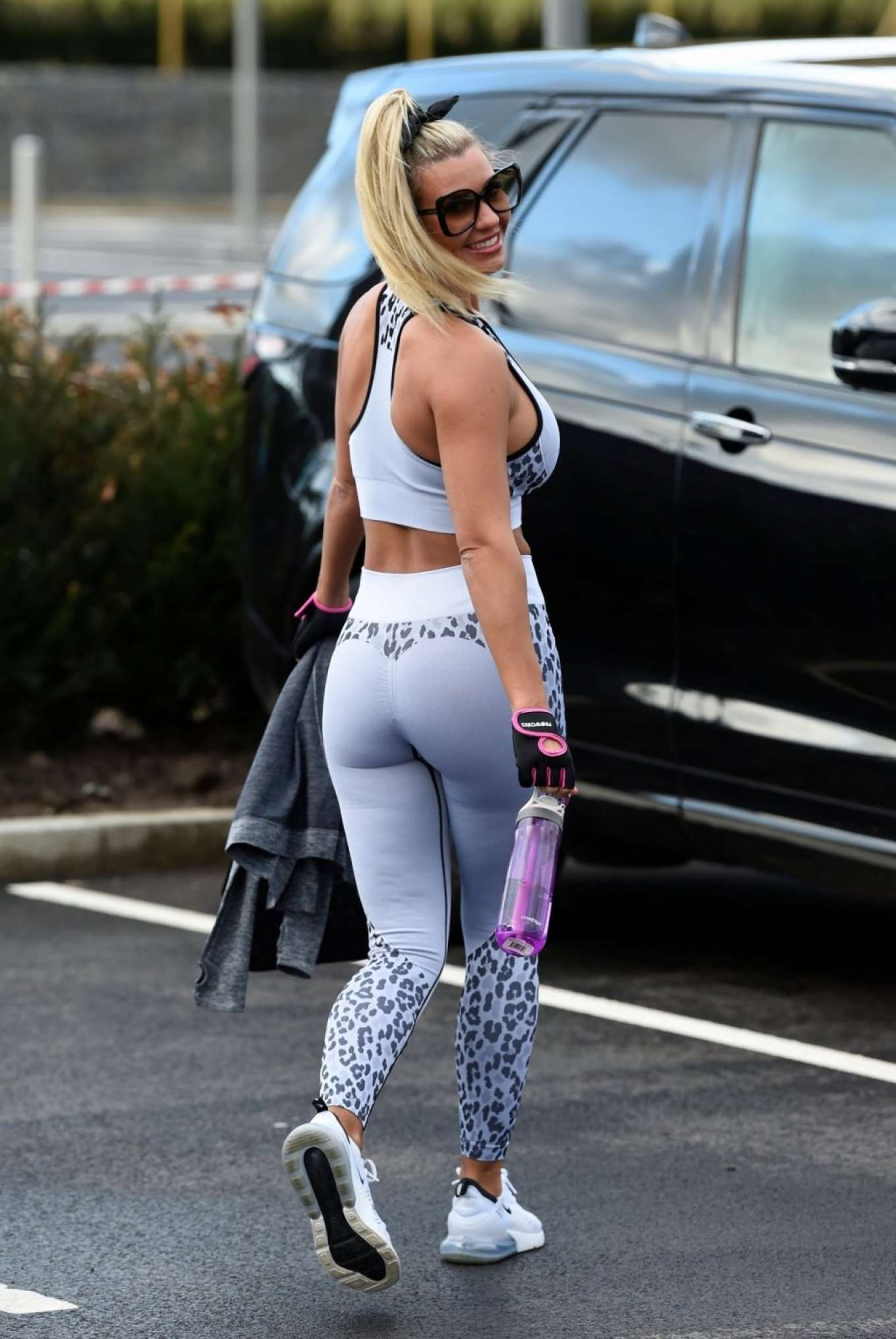 Christine McGuinness in Gym Outfit - Leaving the gym in Cheshire