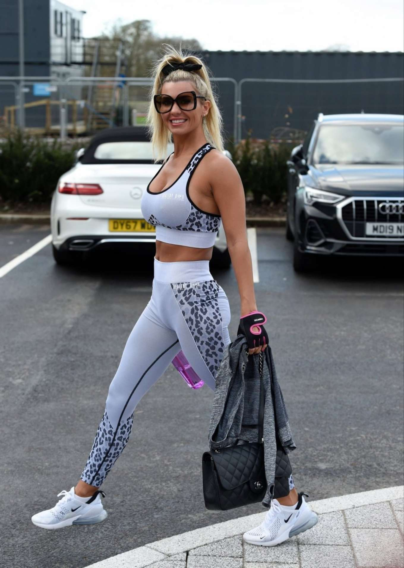 Christine McGuinness 2019 : Christine McGuinness in Gym Outfit – Leaving the gym in Cheshire-34