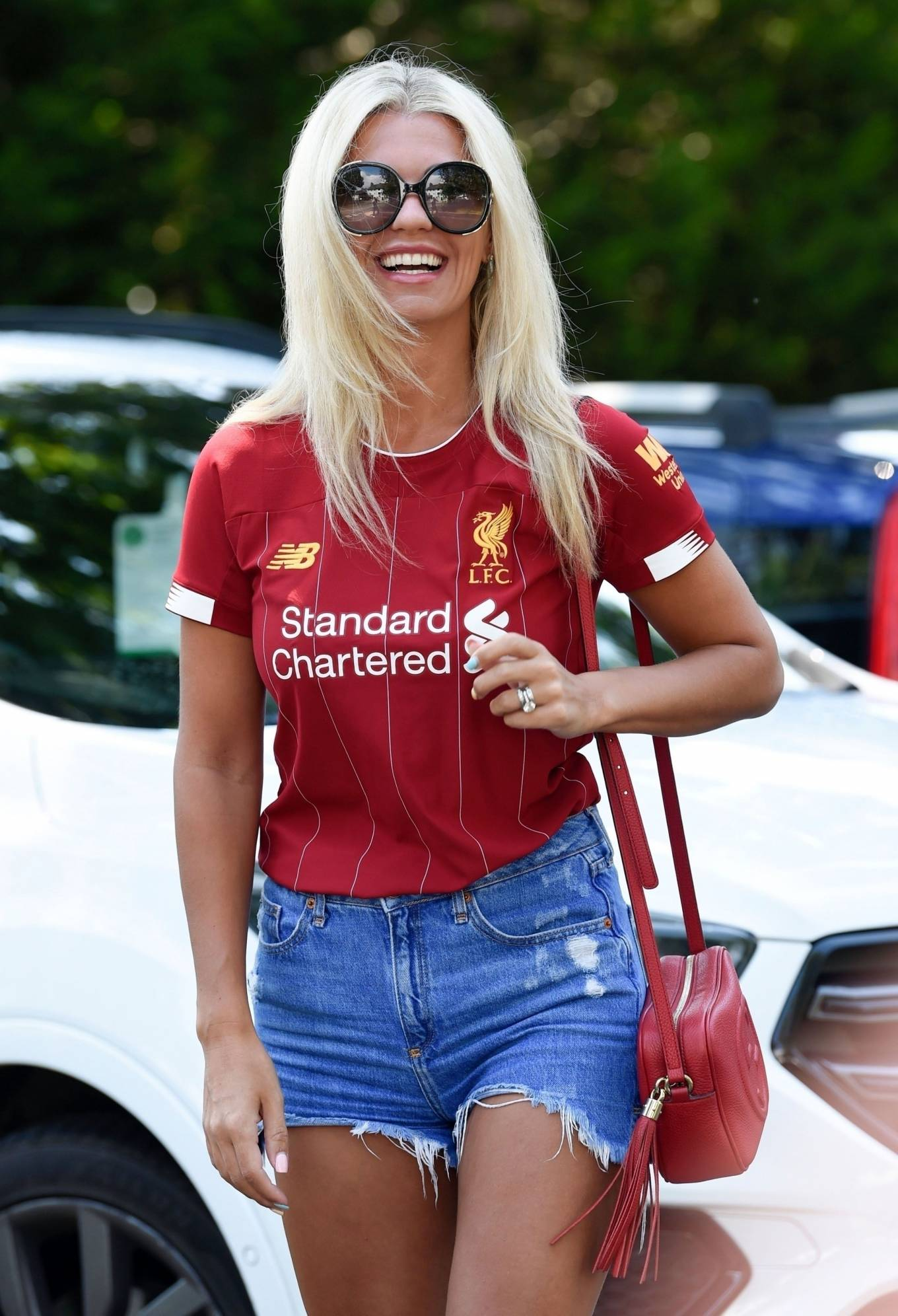 Christine McGuinness 2020 : Christine McGuinness in Jeans Shorts – Out and about in Cheshire-28