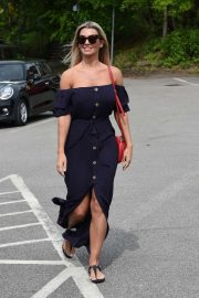 Christine McGuinness in Long Dress - Out in Cheshire