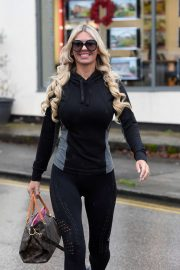 Christine McGuinness in Spandex - Out in London