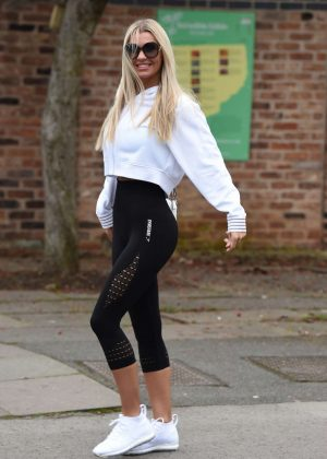 Christine McGuinness in Tights - Out in Cheshire
