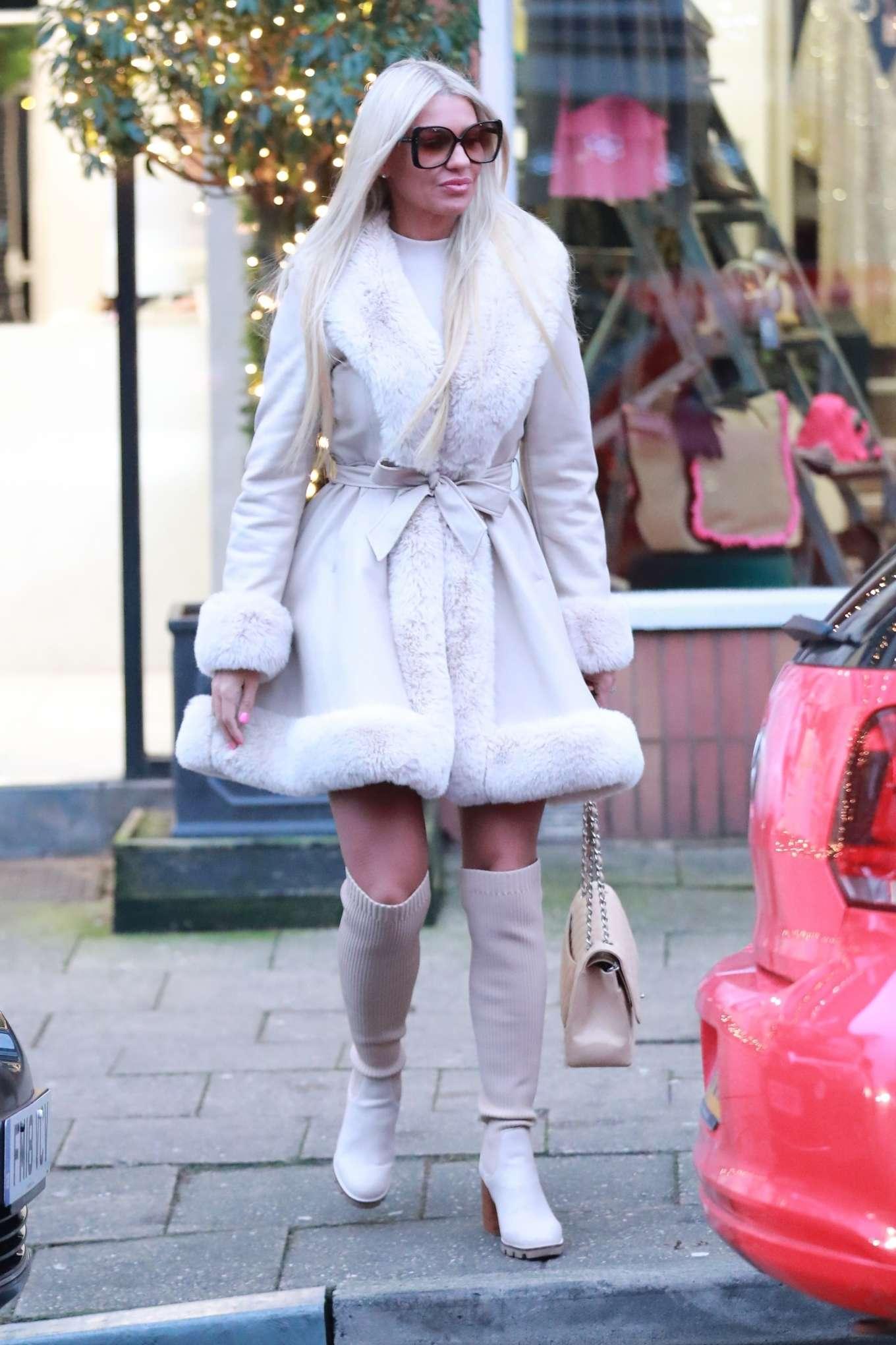 Christine McGuinness - Leaving an Alderley Edge Hair Salon in London