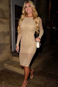 Christine McGuinness - Leaving Peter Street Kitchen in Manchester