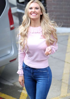 Christine McGuinness - Leaving the ITV Studios in London