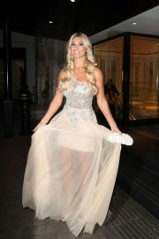 Christine Mcguinness  - Leaving the Pride of Britain Awards in London