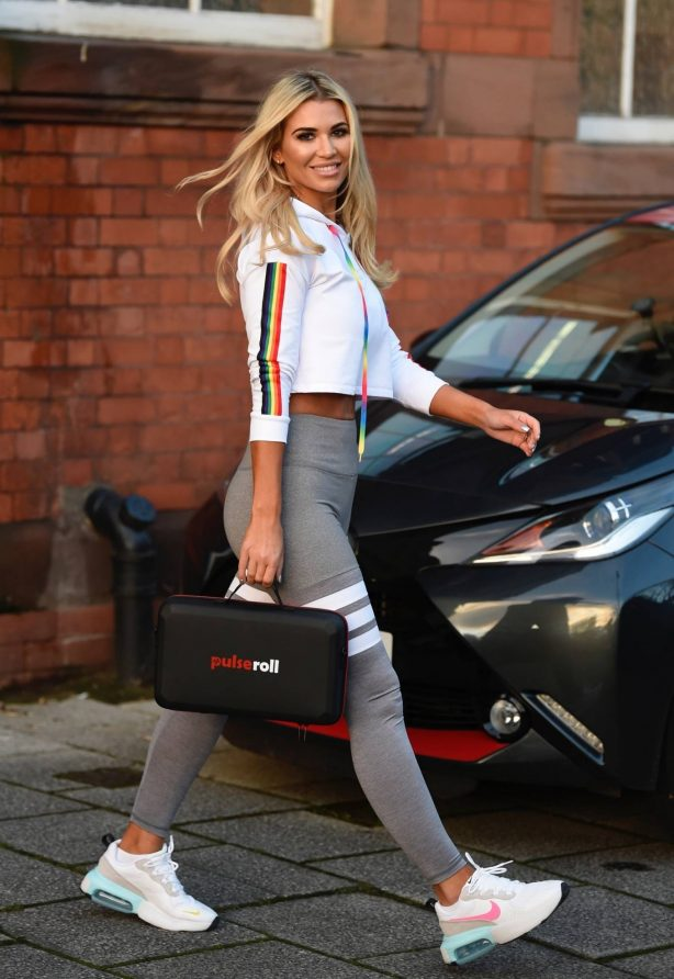 Christine McGuinness - Photo shoot candid in Manchester