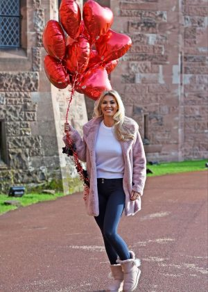 Christine McGuinness - Valentines Day Photoshoot at Peckforton Castle in Cheshire