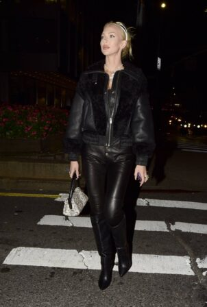 Christine Quinn - Heads out to dinner at Catch in SoHo
