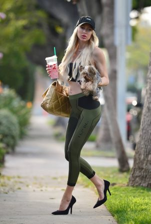 Christine Quinn - Shows her baby bump while out in West Hollywood