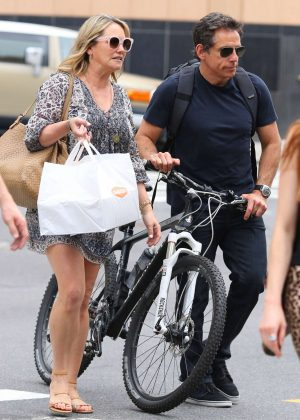 Christine Taylor and Ben Stiller - Out in New York City
