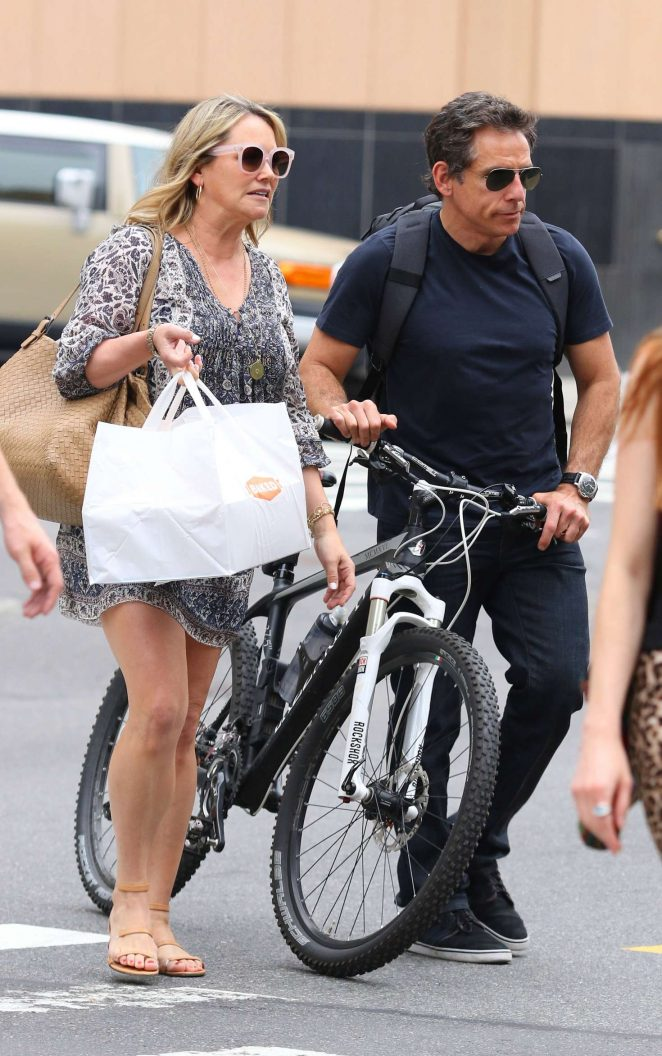 Christine Taylor and Ben Stiller – Out in New York City