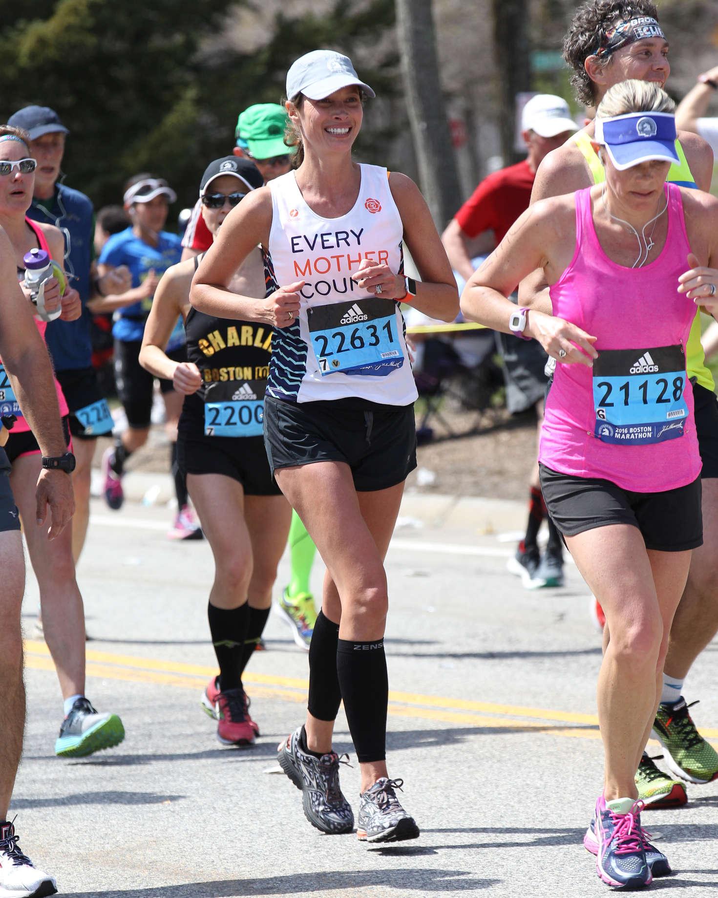 Christy Turlington at 2016 Boston Marathon -12 - GotCeleb