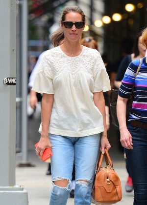 Christy Turlington in Ripped Jeans out in New York City