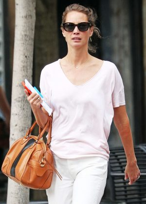 Christy Turlington out for a walk in New York
