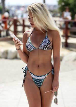 Chyna Ellis in Bikini on the Beach in Puerto Banus