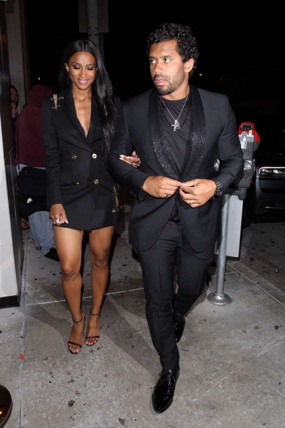 Ciara and Russell Wilson - Arrives at Catch Restaurant in West Hollywood