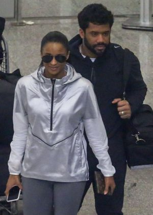 Ciara and Russell Wilson - Arrives in Rio de Janeiro