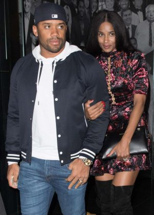 Ciara and Russell Wilson - Leaving Catch in West Hollywood