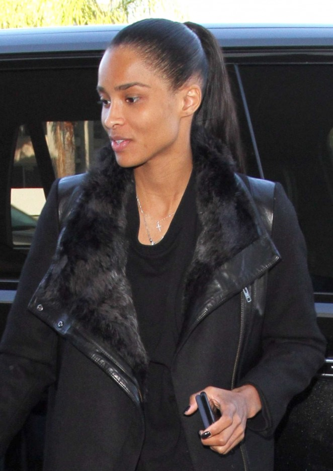 Ciara - Arrives at LAX Airport in Los Angeles